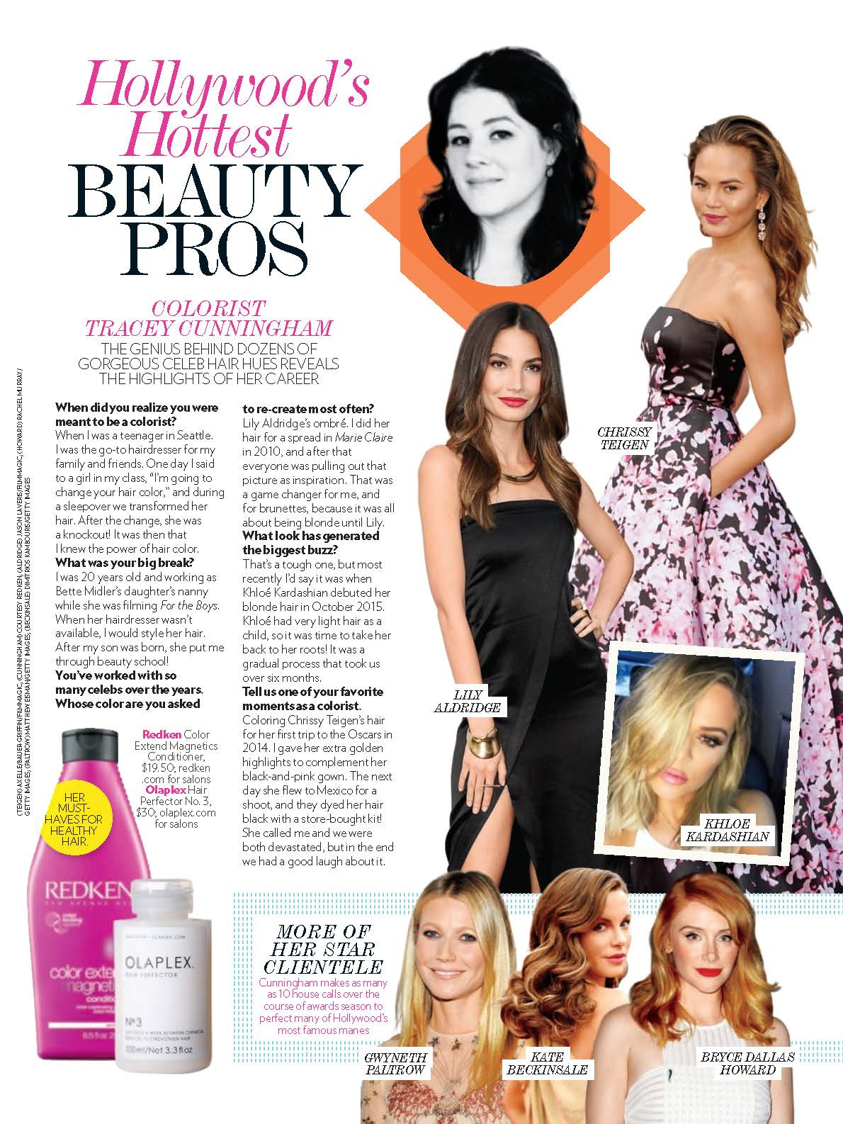 People Magazine Hollywood S Hottest Beauty Pros Tracey