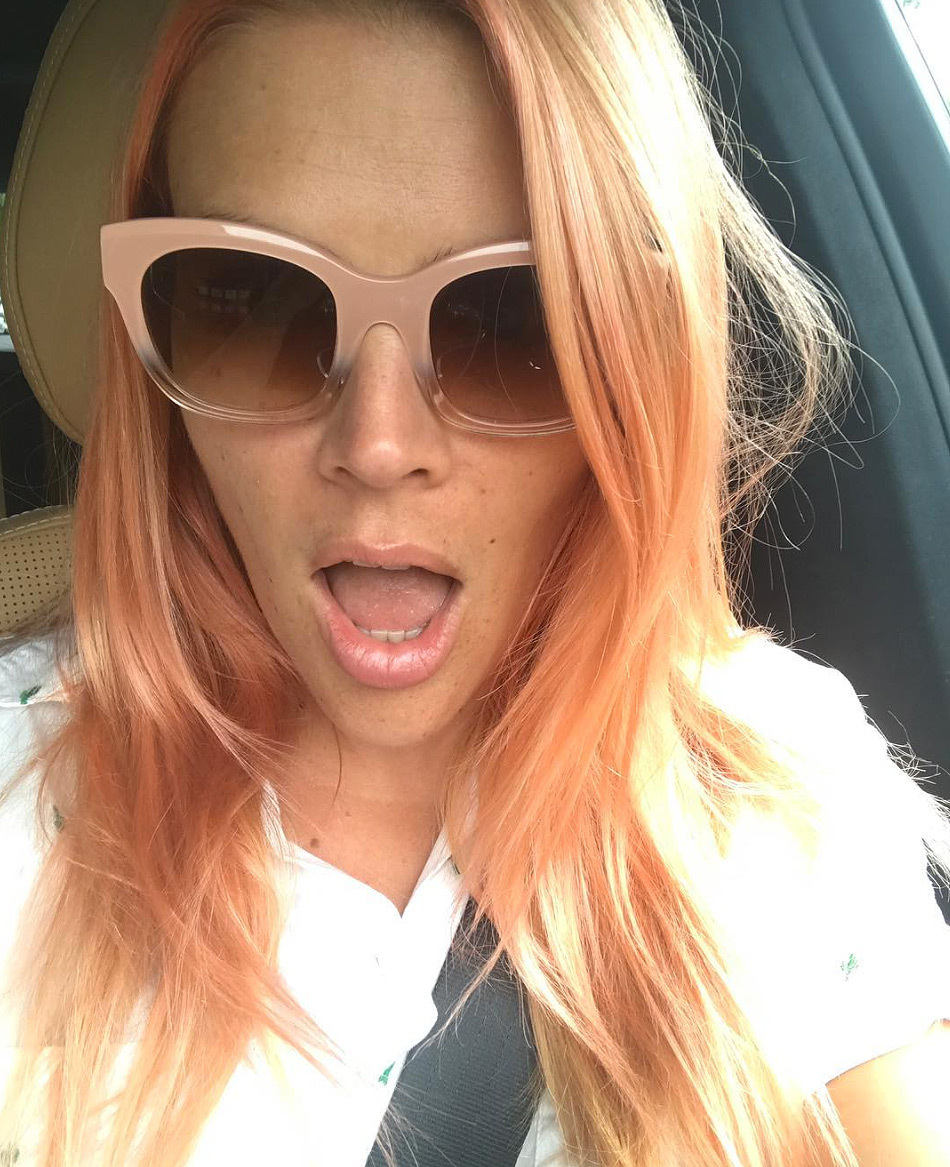 Busy Philipps Pink Hair